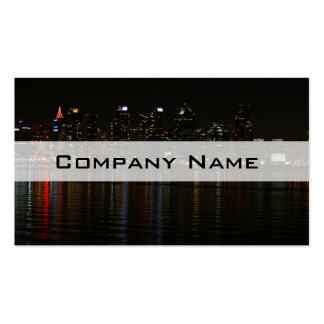 San Diego Skyline Night Business Card Template