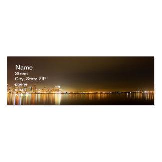 San Diego Skyline Night Pack Of Skinny Business Cards