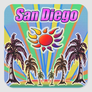 San Diego Summer Love Sticker