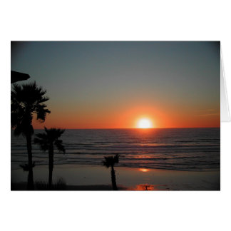San Diego Sunset at Pacific Beach Greeting Card
