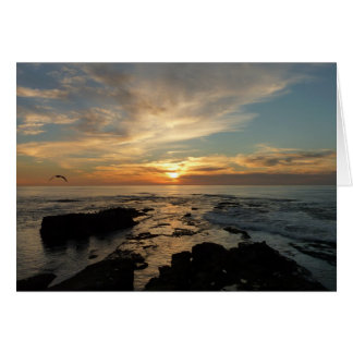 San Diego Sunset I California Seascape Greeting Card