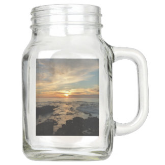 San Diego Sunset I California Seascape Mason Jar