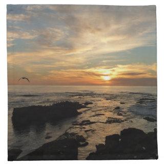 San Diego Sunset I California Seascape Napkin
