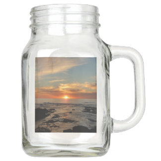 San Diego Sunset II California Seascape Mason Jar