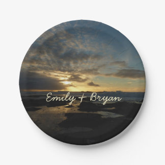San Diego Sunset III Stunning California Landscape Paper Plate