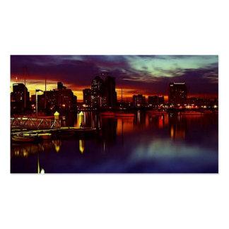 San Diego Sunset Skyline Pack Of Standard Business Cards
