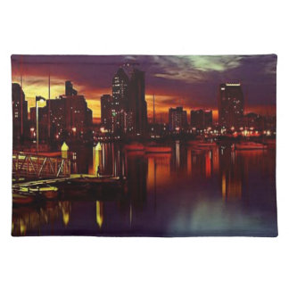 San Diego Sunset Skyline Placemat