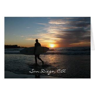 San Diego Surfer Note Card