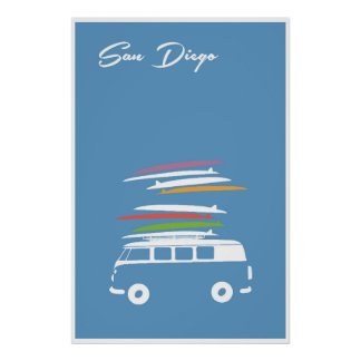 San Diego, Surfs Up Poster