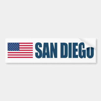 San Diego US Flag Bumper Sticker