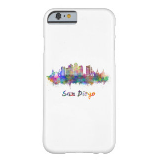 San Diego V2 skyline in watercolor Barely There iPhone 6 Case