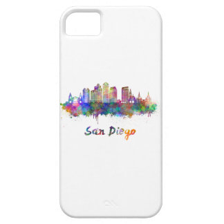 San Diego V2 skyline in watercolor iPhone 5 Cover