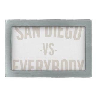 San Diego Vs Everybody Rectangular Belt Buckle