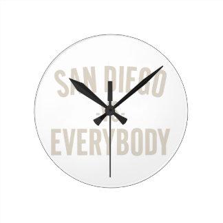San Diego Vs Everybody Round Clock