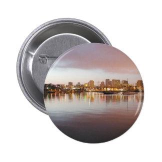 San Diego Water Bays Lights City Sunrise Pinback Buttons