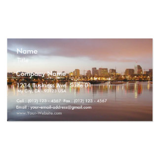 San Diego Water Bays Lights City Sunrise Business Card