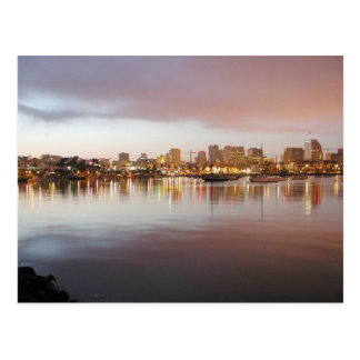 San Diego Water Bays Lights City Sunrise Postcards