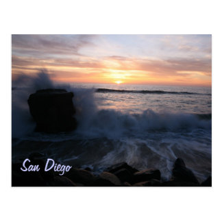 San Diego waves at sunset Postcards