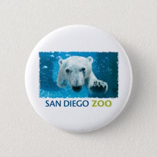 San Diego Zoo Polar Bear 6 Cm Round Badge