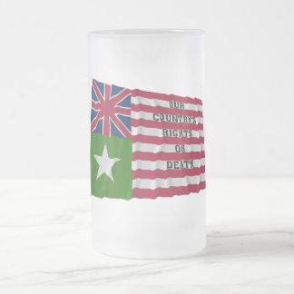 San Felipe Flag Frosted Glass Beer Mug