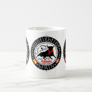 SAN FERMIN SPAIN BULLFIGHTING COFFEE MUG