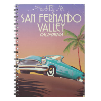 San Fernando Valley California vintage travel post Notebook