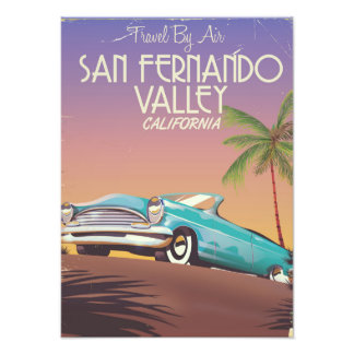 San Fernando Valley California vintage travel post Photo