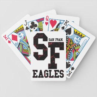 San Fran eagles Bicycle Playing Cards