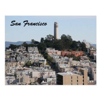 san fran streets postcard
