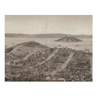 San Francisco, 1862 from Russian Hill Postcard