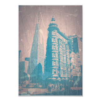 San Francisco 9 Cm X 13 Cm Invitation Card