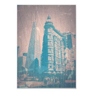 San Francisco 9 Cm X 13 Cm Invitation Card