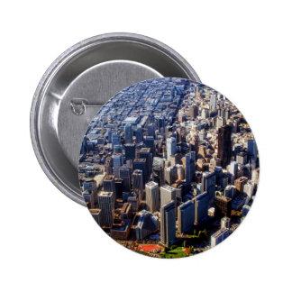 San Francisco Aerial View Pinback Button