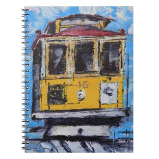 San Francisco Art, Cable Car Painting, California Notebook