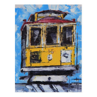 San Francisco Art, Cable Car Painting, California Postcard