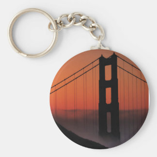 SAN FRANCISCO BASIC ROUND BUTTON KEY RING