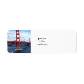 San Francisco Bay Bridge Return Address Label