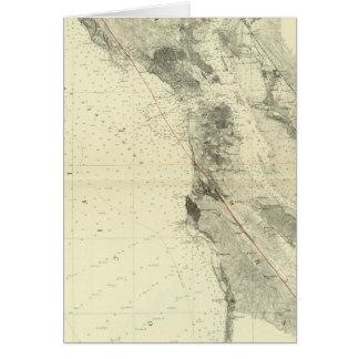 San Francisco Bay showing San Andreas Rift Card