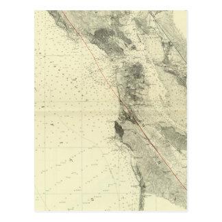 San Francisco Bay showing San Andreas Rift Postcard
