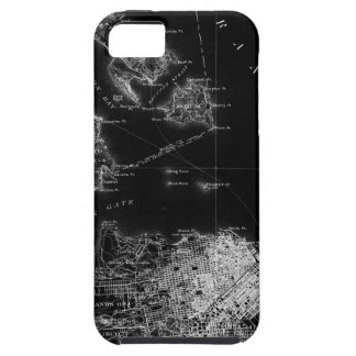 San Francisco Black and White Map Tough iPhone 5 Case