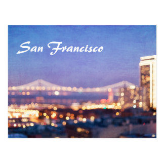 San Francisco Bokeh Photo Postcard