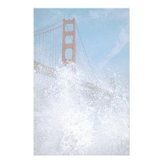 San Francisco Bridge under spray, California, U.S. Stationery