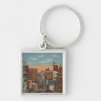 San Francisco CA - Cable Cars going up Keychains