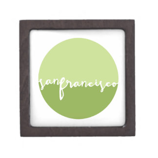 San Francisco, CA | Green Ombre Circle Premium Keepsake Box