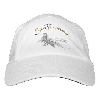 San Francisco, CA Grey/Gold, Cool Adjustable Hat