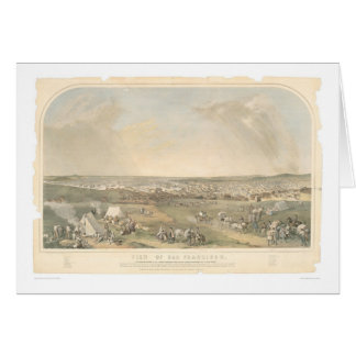 San Francisco, CA. Panoramic Map (1551A) Card