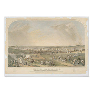 San Francisco, CA. Panoramic Map (1551A) Poster