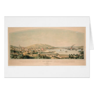 San Francisco, CA. Panoramic Map 1849 (1626A) Card