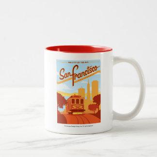 San Francisco, CA - The City by the Bay Two-Tone Coffee Mug