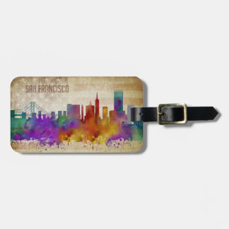 San Francisco, CA | Watercolor City Skyline Luggage Tag